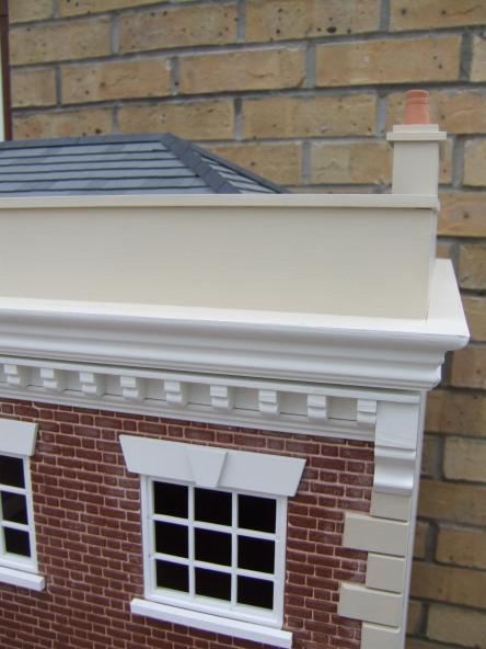 Parapet of Houses Kensington House Roof Parapet